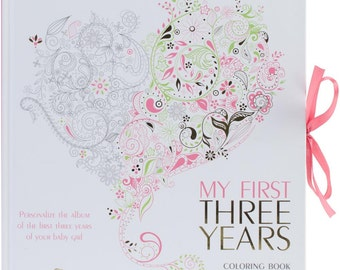 My First Three Years Coloring Scrapbook - Girl