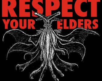 Respect Your Elders Lovecraft Cthulhu Mountains of Madness unisex t-shirt, sizes S-4XL