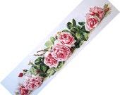 Pink La France Cabbage Roses, Art Print, Paul de Longpre, Yard Long