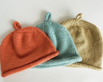 Knit Baby Hat Set - 6 Months