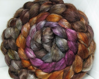 Yak Bombyx Silk 50/50 Roving Combed Top - 5oz - Castle Stairs 1