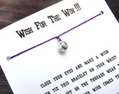 Wish For The Win!!! - Wish Bracelet With 3D Volleyball Charm - Custom Made In Your Team Colors!!!