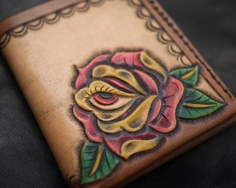 Eyeflower Minimal Leather Wallet