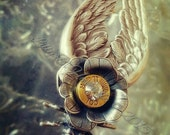 Silver Bess Bullet Jewelry Bullet Necklace 9mm Cicada Rose Angel Wings a Lilly B Haven Original