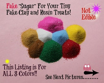 Colored Fake Sugar Sprinkles for Kawaii Sweets Green Pink Red White Brown Chocolate Colored Miniature Food Clay Food Charms