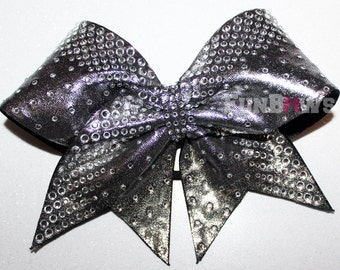 Tons of Bling ! Beautiful blingy rhinestone cheer bow by FunBows !
