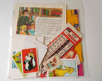 Vintage 25 Piece Ephemera Paper Pack Lot Scrapbooking Inspiration Kit