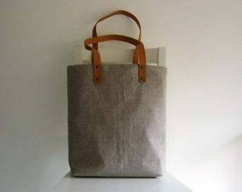 Natural Linen Tote /Shoulder Bag /Shopper