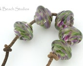 Florals Baroque Handmade Glass Lampwork (5 Count) Beads by Pink Beach Studios - SRA (1223)