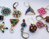 Reserved listing for Susie Sims, handmade bead woven stitch markers, ready to ship