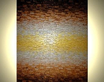 Metallic Art, Original Abstract Painting, Modern Palette Knife Painting, 48x36, Lafferty Save 22% Off