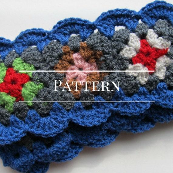 Crochet scarf pattern Granny Square scarf pattern