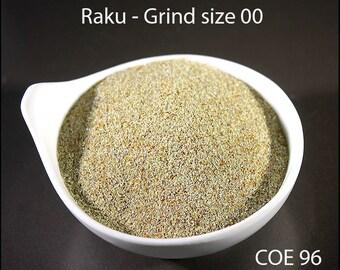Raku Opaque Lampwork Frit Grind size 00 COE 96 - 1 ounce