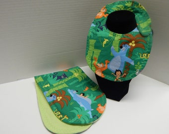 Newborn Baby  Bib and Burp Cloth Set Disney Jungle Book