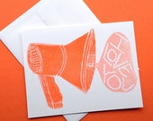 Megaphone Love Greeting Card