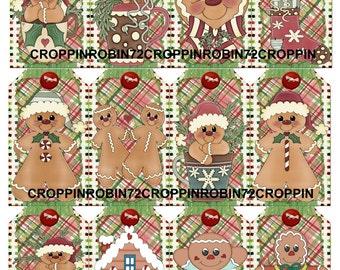 Christmas Gingerbread Men (128) Scrapbook Card Embellishments Hang Gift Tags