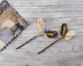 AROMAS beaded hair pins set of 2