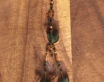 Native American feather hair clip
