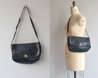 Coach City bag | black vintage Coach purse | leather Coach bag