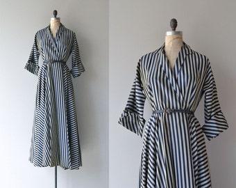 Frontispiece gown | vintage 1950s wrap dress | 50s coat dress