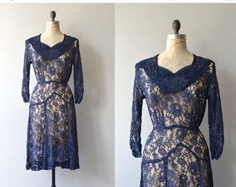 25% OFF.... Mémoire lace dress | vintage 1940s dress | lace 40s dress