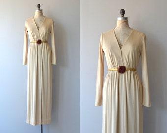 Halstonette dress   vintage 1970s dress   Fred Perlberg maxi dress