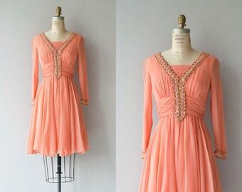 Dream Pop dress | vintage 1960s dress | beaded chiffon 60s mini dress
