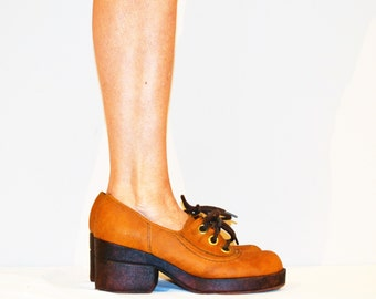 Vintage Shoes 1970's Capetos Chunky Oxfords