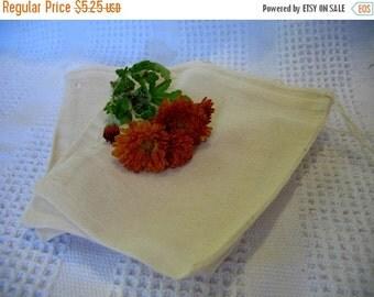 Sale Reusable Tea Bag Muslin Tea Bags set of 5 5x7 cotton drawstring bags