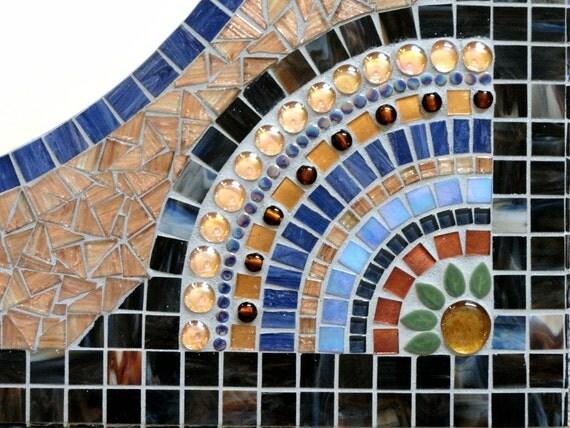 Extra Large Custom Mosaic Mirror Vanity Size By Memoriesinmosaics