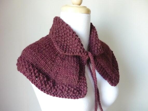 Knit Cape Outlander Inspired Collar Highlands Capelet