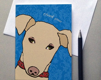 Dog, Doggie, Dog Card, Thank you, Thank You Card, Greeting Card, Sale