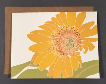 Sunflower Single Card