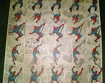 Marvel Comics Spiderman Scrapbook Papers - 5 Sheets | 12x12 | Scrapbooking | Comic Book