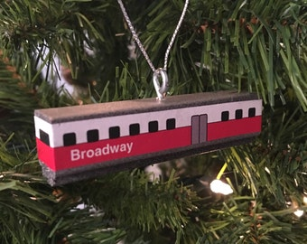 Custom Broadway redline ornament