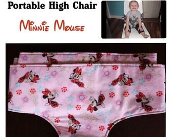 Portable High Chair- Minnie Mouse