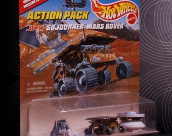 Vintage Hot Wheels Action Set Sojourner Mars Rover Set Unopened Original Packaging