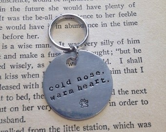 The Darren Dog Tag - Cold Nose. Warm Heart. Vanity Dog Tag