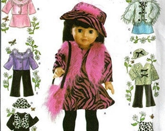RETIRED SEWING PATTERN! Make Doll Clothes / American Girl - 18 Inch Dolls / Seventies - Julie