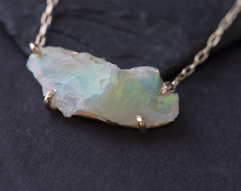 Natural Raw Opal Necklace