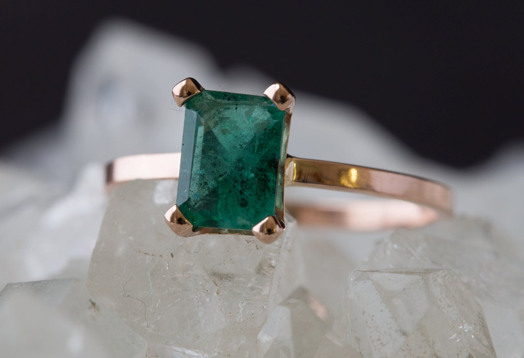 custom emerald ring by lexluxe on etsy