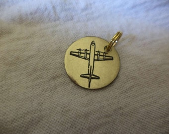 P-3 Orion Etched Brass Charm