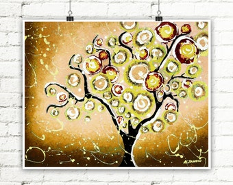 Tree of Life Print French Country Decor, Tree Wall Art Rustic Home Decor, Earth Tones Landscape Print