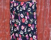 Connie - vintage 50s handmade rayon skirt M L