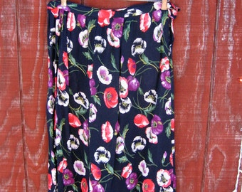 Connie - vintage 50s handmade rayon skirt M L