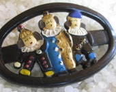 vintage barrettes PIF Pay it  forward, Circus clowns