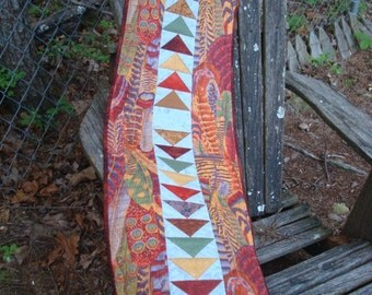 Fall Feather Quilted Table Runner