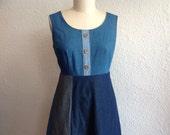 SALE Blue Denim sun dress Sz 12