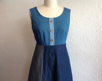 SALE Blue Denim sun dress Sz 12