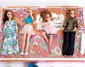 Collectible Dawn and Her Friends Doll Case, Dolls, and accessories